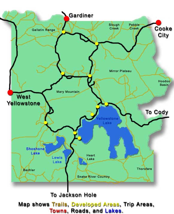 Yellowstone backcountry camping guide to view the campsites in a particular region of the park click on the area you wish to view sciox Choice Image